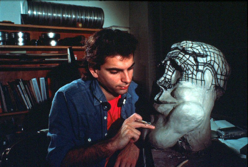 Daniel Langlois working on Tony de Peltrie (1984).
