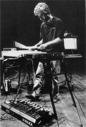 Andrew Schloss playing the Radio Drum, 1992