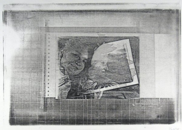 "[Process: Haloid Xerox (portrait of Sonia Sheridan and Diane Kirkpatrick) / Sonia Landy Sheridan], c.1970, 1 sheet: impression on paper ; 22 X 28 cm. Print made using the copier ""Haloid"" by Xerox."