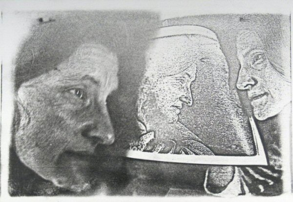 "[Process: Haloid Xerox (portrait of Diane Kirkpatrick) / Sonia Landy Sheridan], c.1970s, 1 sheet: impression on paper ; 22 X 28 cm. Print made using the copier ""Haloid"" by Xerox."