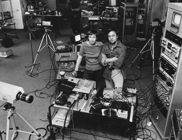 The Vasulkas in their Buffalo studio, 1977