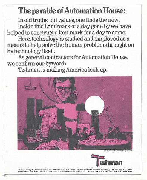 Automation House, The New York Times, 1970