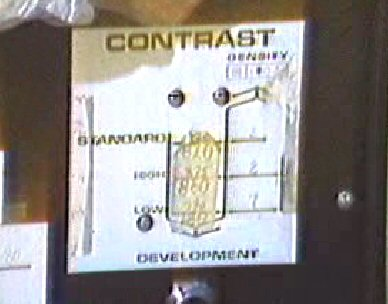 Development voltage control (contrast)