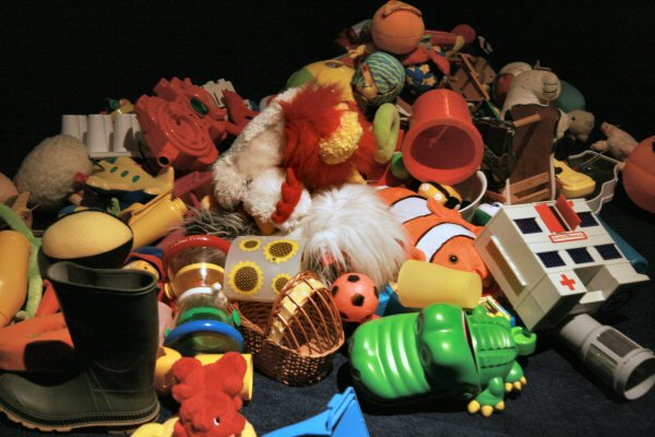 The pile of toys