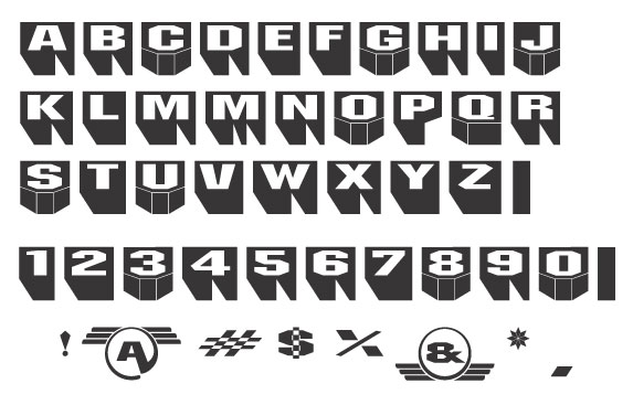 Taxi sticker art downloadable font