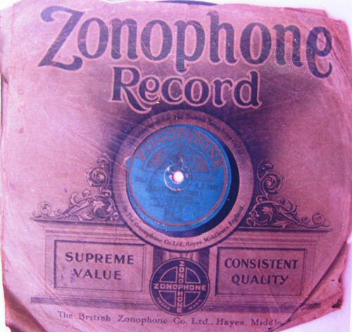 Zonophone paper sleeve (ca 1930)