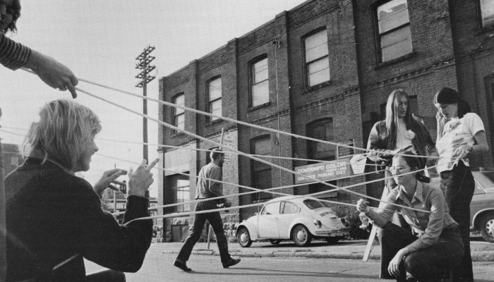Vera Frenkel, String Games: Improvisations for Inter-City Video (Montreal–Toronto, 1974)