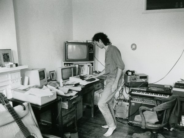 David Rokeby in his Toronto studio, ca. 1984