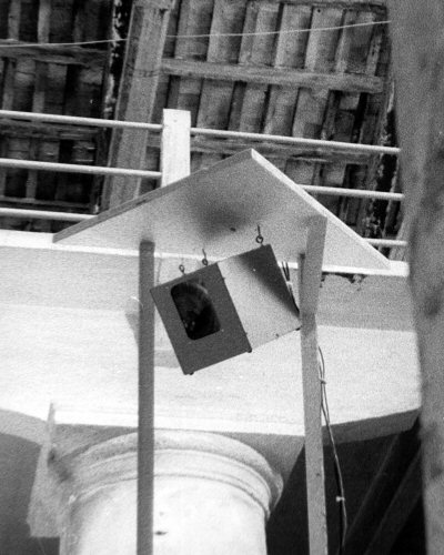 The camera at the Venice Biennale (Italy), 1986.
